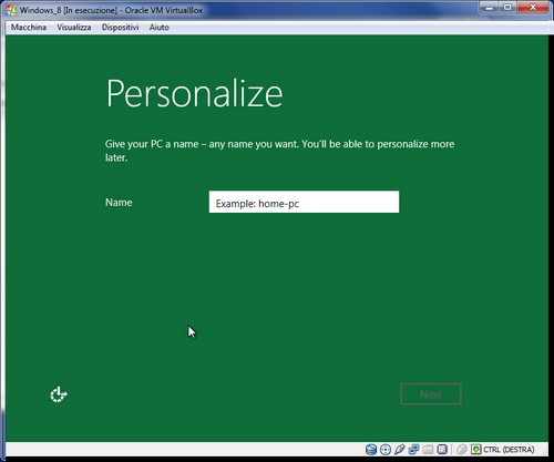 Windows 8: Assegnazione nome al computer