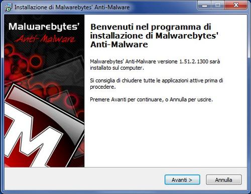 Installazione Malwarebytes Anti-Malware