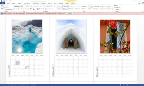 Calendari con Word