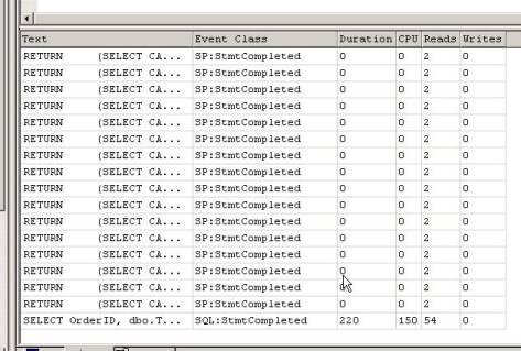 Tracciamento lato server della query