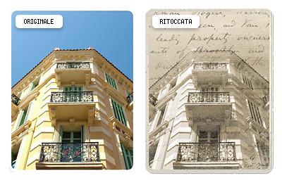 Immagine di lavoro, prima e dopo