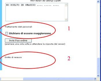 Informazioni sull'acquisto sul sito lupetti.com
