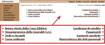 Screenshot del menu