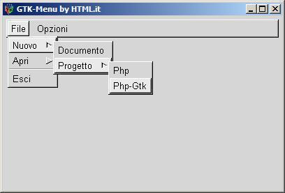 Immagine dell'applicazione: una finestra stile GTK con dei menu