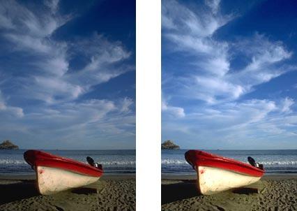 Le due immagini a confronto