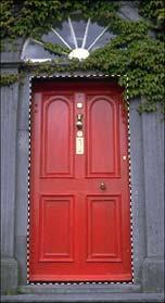 Selezione della porta rossa con lo strumento Lazo Poligonale