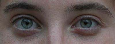 Dettaglio degli occhi di una modella