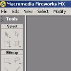 Esempio piccolo di interfaccia di fireworks-MX
