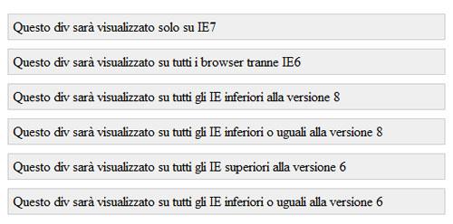 Test con Internet Explorer 7