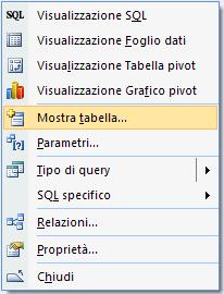 Aggiungere tabelle alle query