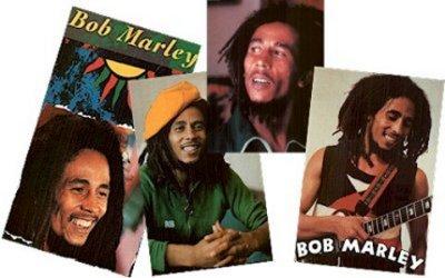 Quattro foto di Bob Marley