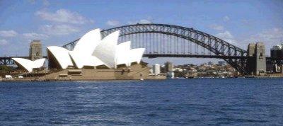 La baia di Sydney e l'Opera House
