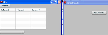 Screenshot del programma in esecuzione