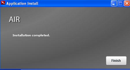 Screenshot della schermata di setup