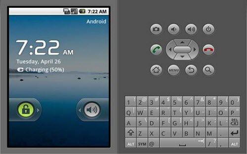Una delle prime versione dell'emulatore Android