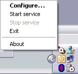 Il menu di servizio di Apache