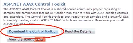 Scaricare il toolkit con i controlli aggiuntivi
