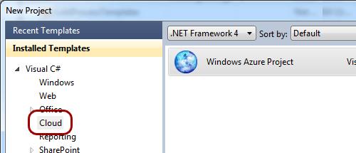 Nuovo progetto Azure