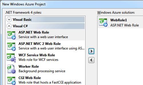 ASP.NET Web Role