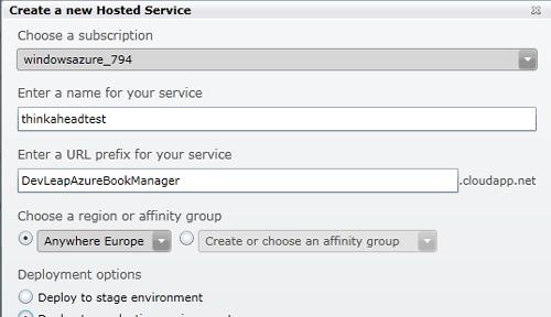 Creare un nuovo Hosted Service