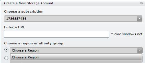 Creare un nuovo Storage Account