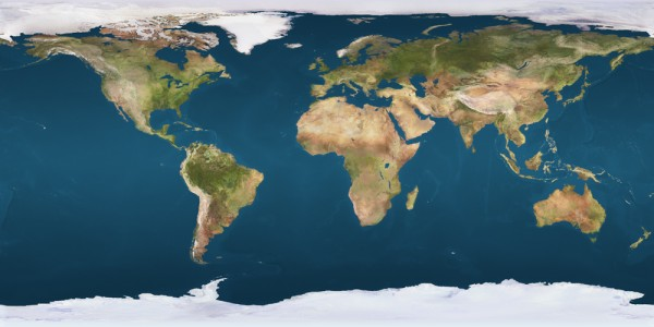 Immagine piana della Terra