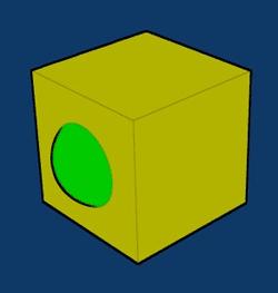 Inserire la luce nel cubo