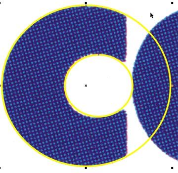 Due cerchi delimitano l'interno e l'esterno della