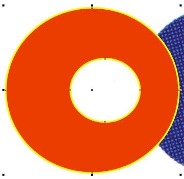 L'unione dei due cerchi genera una figura 'sfondata' al centro