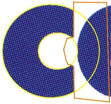 In arancione la figura utilizzata per il ritaglio