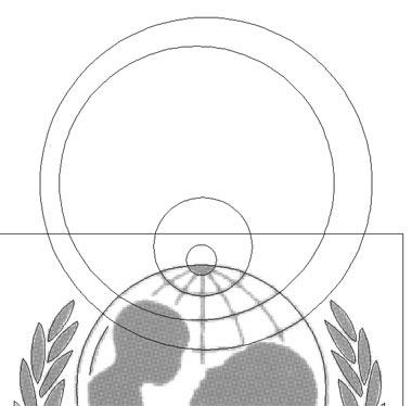 La sovrapposizione dei cerchi concentrici ai paralleli in visualizzazione 'struttura'