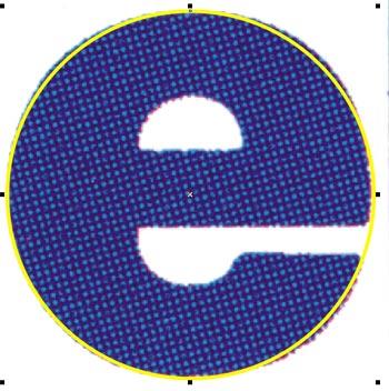 Il profilo della 'E' non è un cerchio perfetto