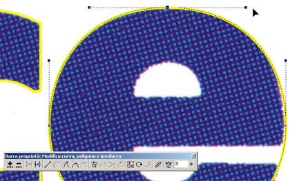 La modifica interattiva del nodo superiore della 'E'