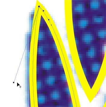 Adattamento della forma mediante spostamento dei punti di controllo dei nodi