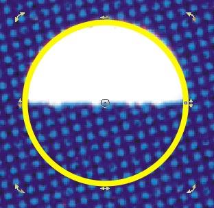 Il cerchio è stato ruotato di 90  verso destra intorno al proprio centro geometrico