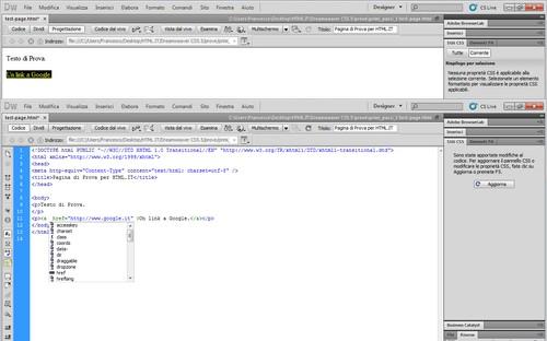Funzione di aiuto nel codice per il completamento.