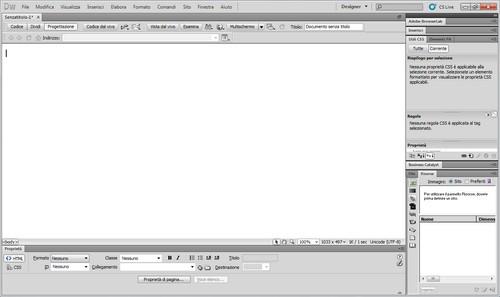 Schermata del programma in azione.
