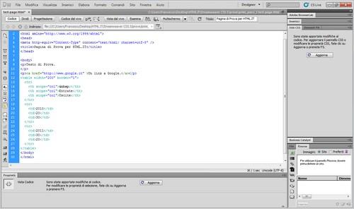Le modifiche effettuate ora sono riflesse sul codice.