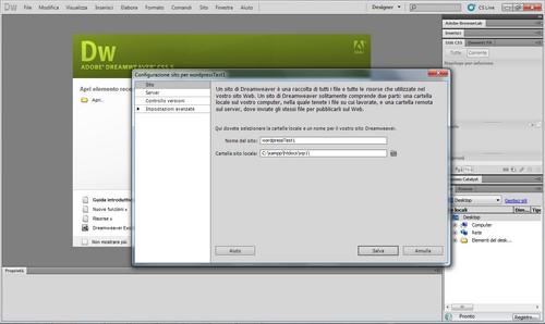 Configurazione del server per WordPress.
