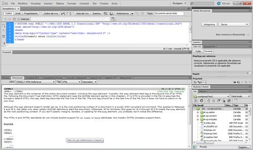 Riferimenti per l'elemento HTML
