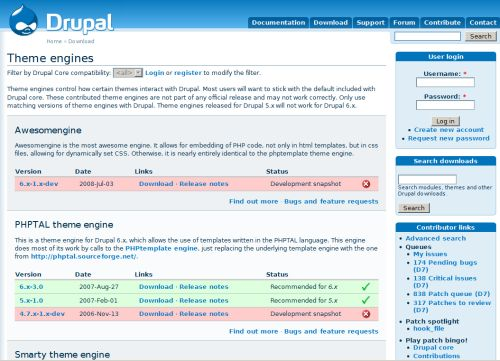 I Theme Engine di Drupal