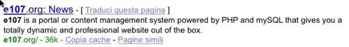 Il contenuto del meta tag description nelle SERP di Google