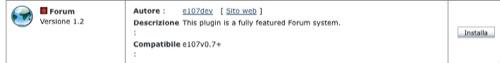 e107 installa forum