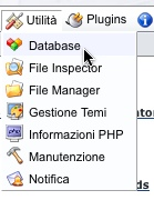 e107 gestione database