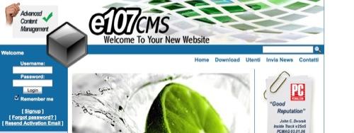 e107 home page
