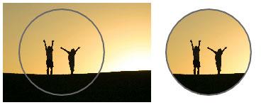 Il disco maschera la fotografia