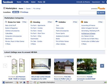 Il Marketplace di Facebook