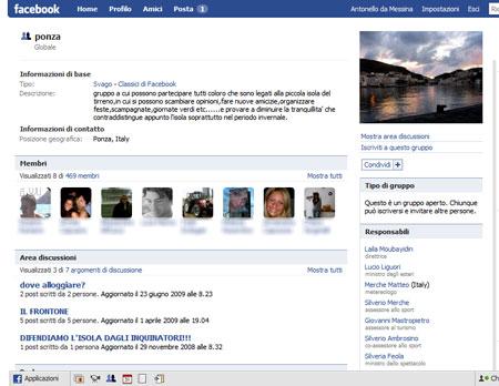 La pagina ufficiale di un Gruppo