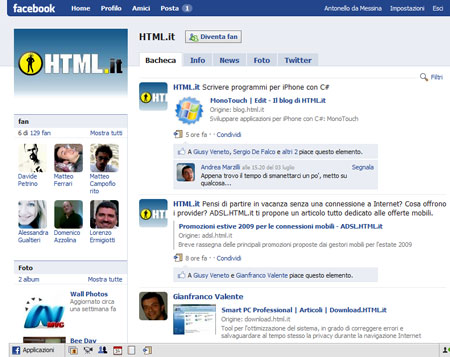 La pagina fan ufficiale di HTML.it