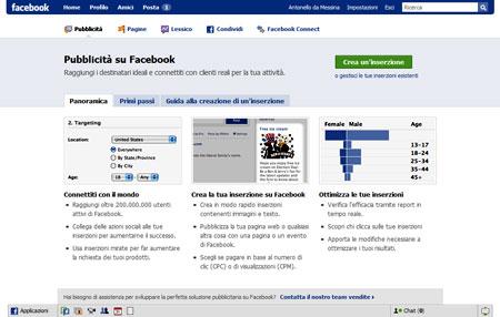 La presentazione di Facebook Ad